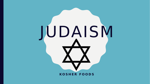 Kosher food presentation with video
