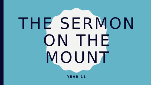 Sermon on the Mount - Matthew GCSE CCEA