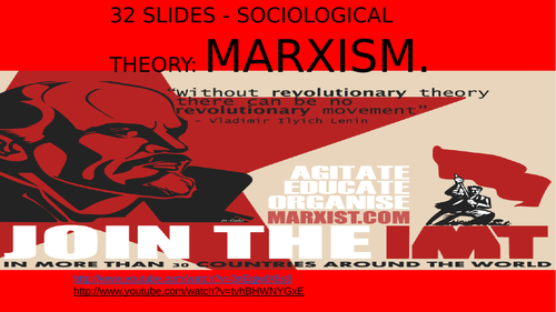 SOCIOLOGY 32 SLIDES - SOCIOLOGICAL THEORY- MARXISM
