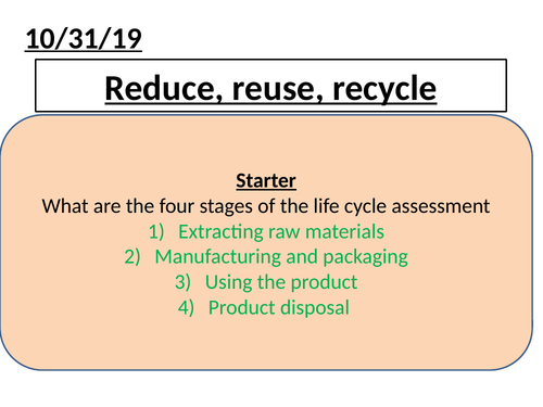 C12.6 reduce reuse recycle