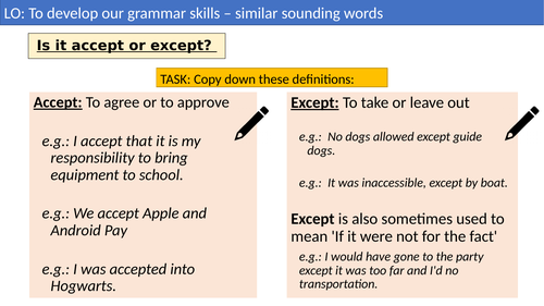 Similar Sounding words - English Cover Lesson activities
