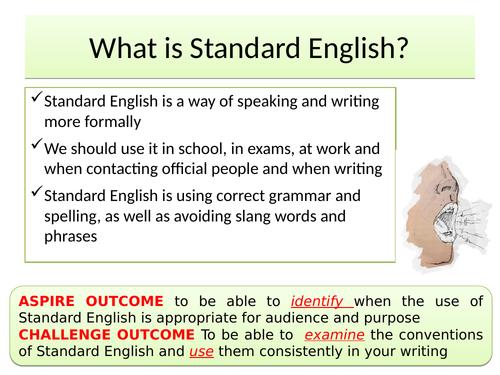 English Language Slang & Standard English