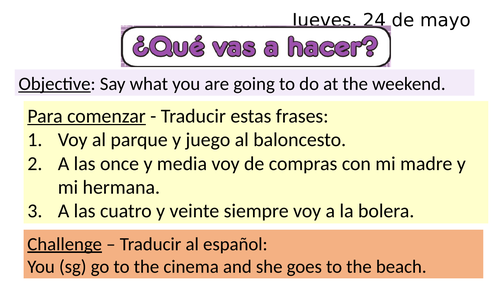 Qué vas a hacer? What are you going to do?