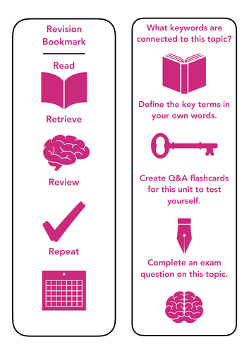 Revision Bookmark | Teaching Resources