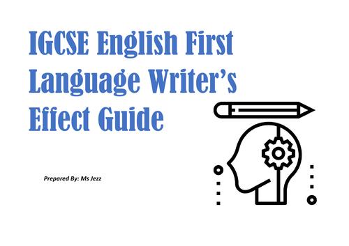 IGCSE Writer's Effect Guide