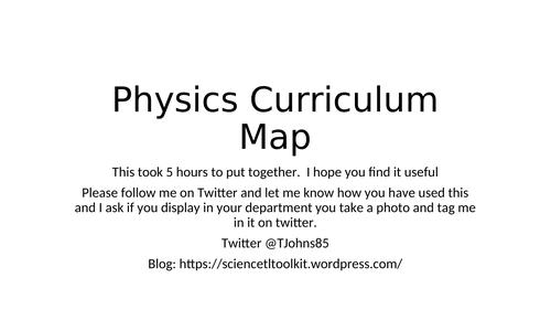 Physics GCSE Curriculum Map - AQA