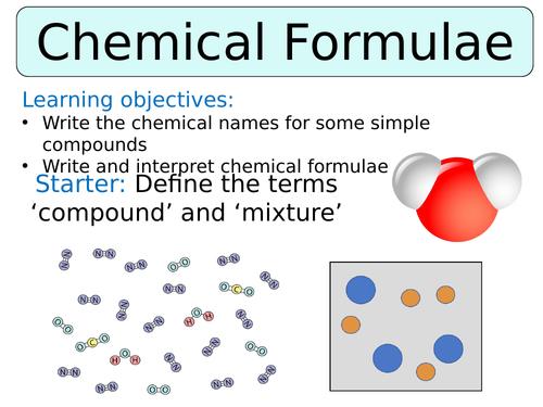 KS3 ~ Year 7 ~ Chemical Formulae