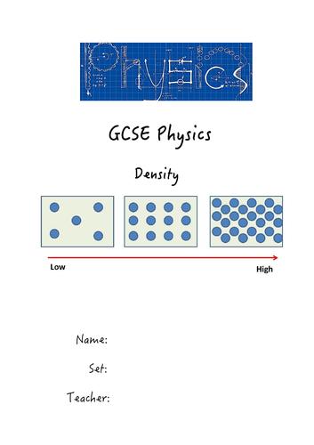 GCSE Density Notes