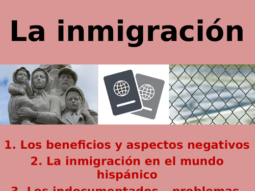 SPEAKING 3: inmigración - immigration