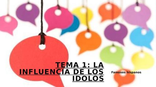 SPEAKING 2- Influencia de los idolos