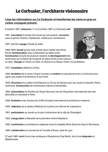 Le Corbusier, l'architecte visionnaire - le patrimoine A-level
