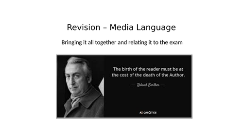 Media Language revision and review