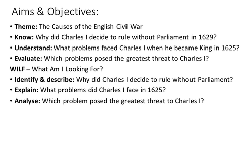 What problems faced Charles I when he became King in 1625?