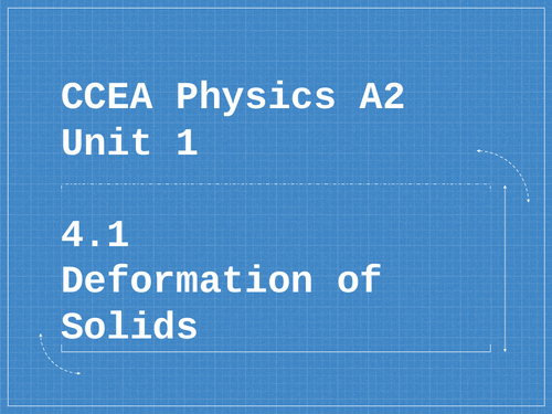 CCEA A level  A2 Physics 4.1 Deformation of Solids