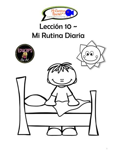 My Daily Routine - Spanish (8 fun worksheets!)