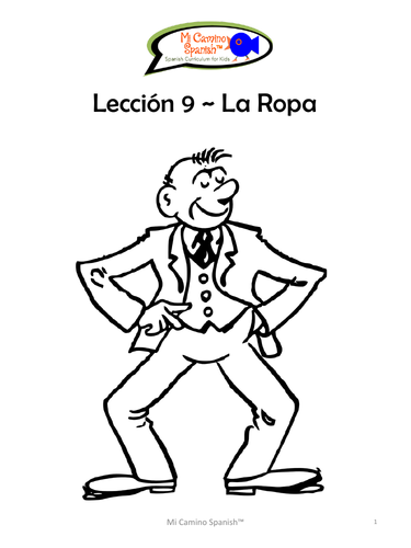 Clothing in Spanish (16 fun worksheets!)