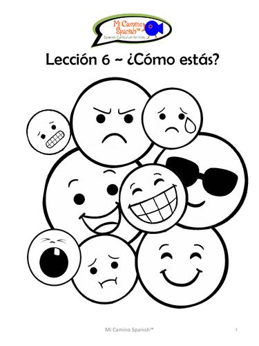 ¿Cómo estás? (Emotions) - Spanish (5 fun worksheets!)