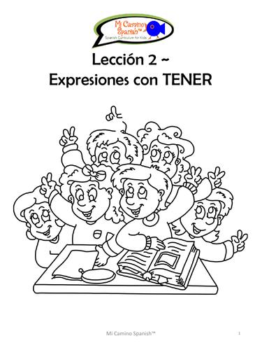 TENER Expressions - Spanish (15 fun worksheets!)