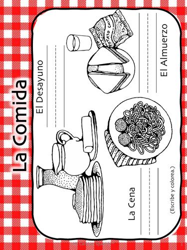 Spanish Food Vocabulary! (11 fun worksheets!)