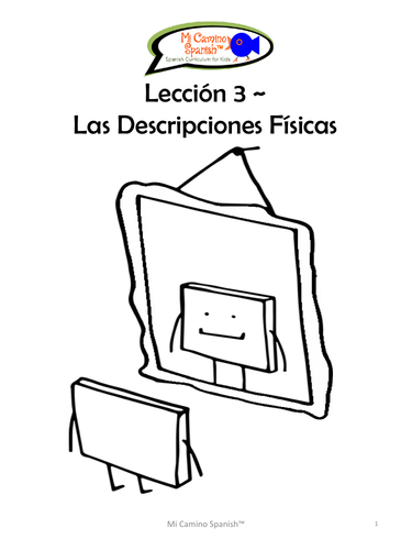 Physical Descriptions - Spanish (8 fun worksheets!)