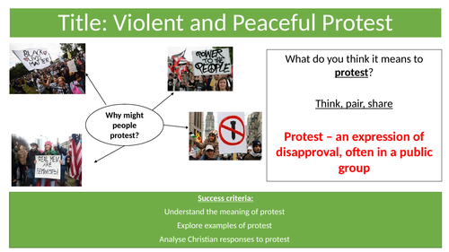 AQA Protest and Christianity