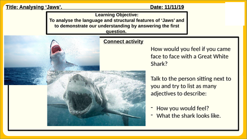 Jaws Language Paper 1