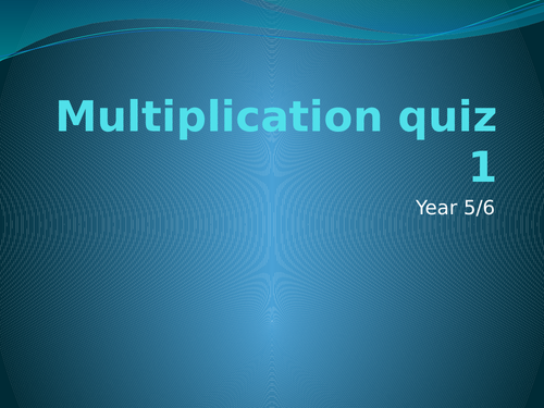 Multiplication whole class quiz powerpoint
