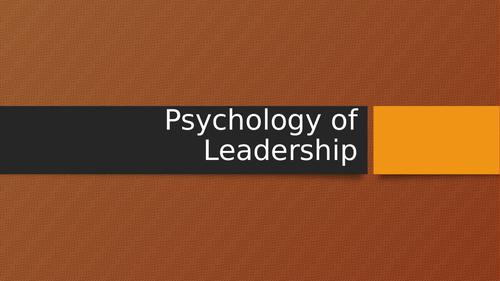 BTEC Unit 4 Psychology of Sports Leadership