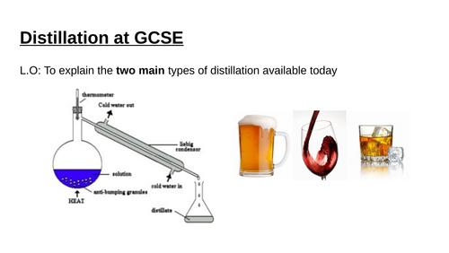 Edexcel Chemistry simple and fractional distillation