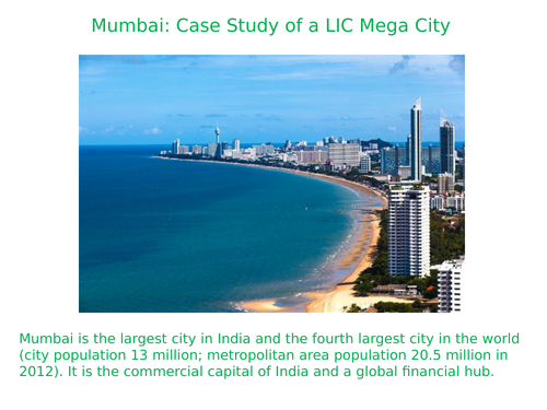 GCSE - AQA - Challenges and Opportunities in Urban World - Mumbai