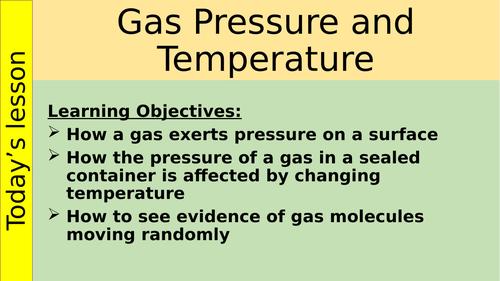 gas pressure and temperature