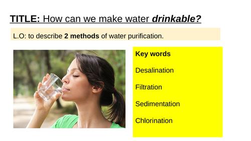 Edexcel GCSE Chem/Com Sci - making water drinkable