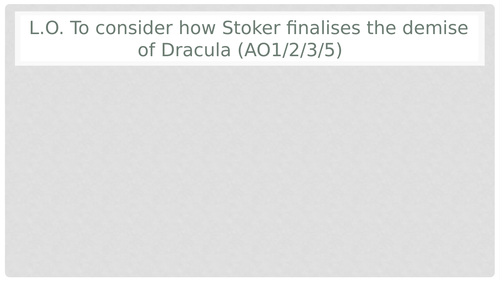 Dracula Chapter 27