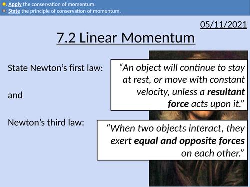 OCR AS level Physics: Linear Momentum