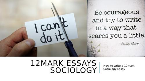 GCSE Sociology 12mark Essay Planning Lesson