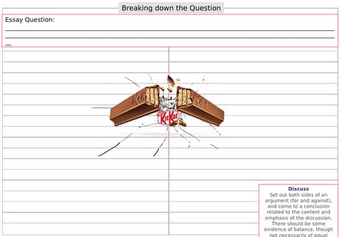 GCSE Sociology Essay Planning Sheet