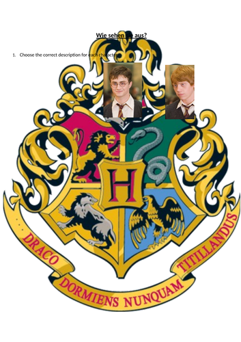 Harry Potter physical descriptions German