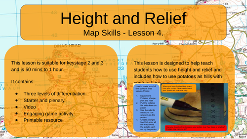 Map Skills - Height and Relief