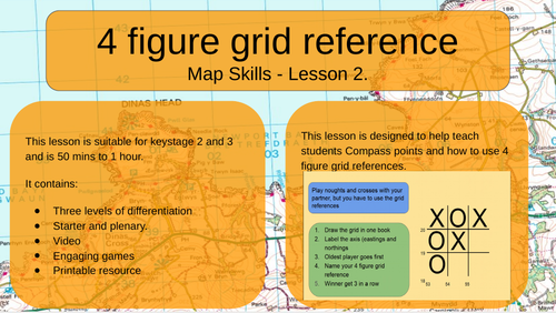 Map Skills - 4 Figure Grid Reference
