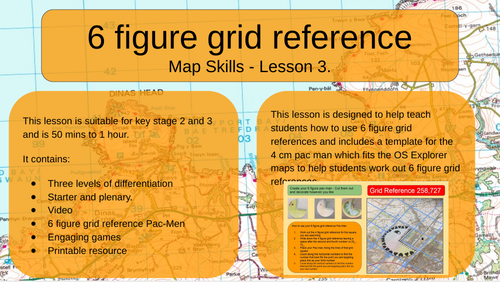 Map Skills - 6 Figure Grid Reference