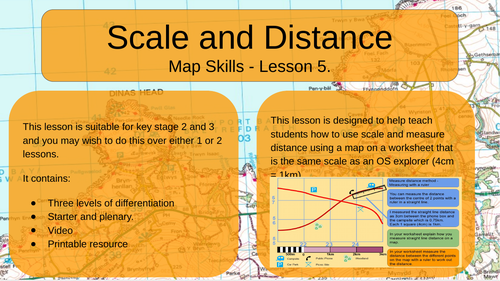 Map Skills - Scale and Distance