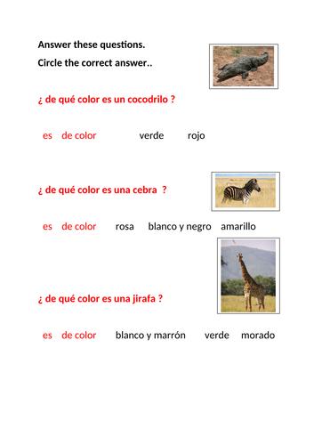 Describing Wild Animals in Spanish