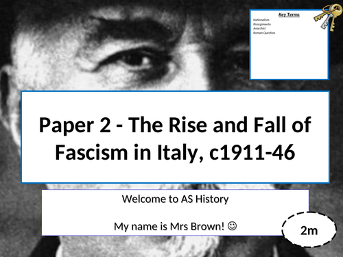Edexcel A Level History: An introduction to Liberal Italy