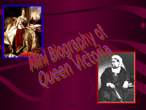 Queen Victoria: Biography   for understanding her values