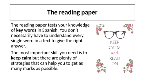 Preparation for reading paper