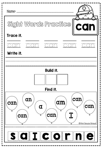 High Frequency Word CAN