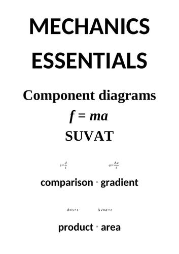 Mechanics A Level Booklet