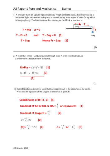 AS and A Level Maths Practice (64 pages) with solutions