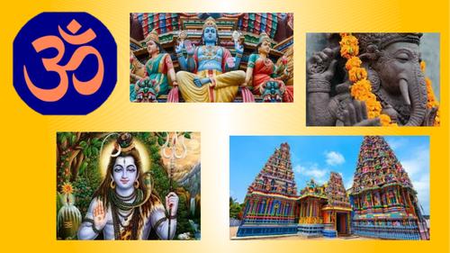 Hinduism assembly presentation/back drop