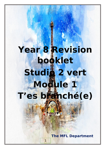 Year 8 studio 2 Module 1 revision booklet